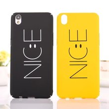 "Buy 2017New Fashion ""Nice"" Yellow Black Phone Back Hard PC Cover OPPO R9 Plus Funny Nice Emoji Case OPPO R9 R9Plus Cellphone for $1.37 in AliExpress store"