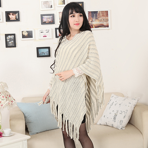Bluelans 2016 New Women's Knit Warm Batwing Cape Tassels Poncho Cloak Jacket Coat Winter Outwear 4 Colors