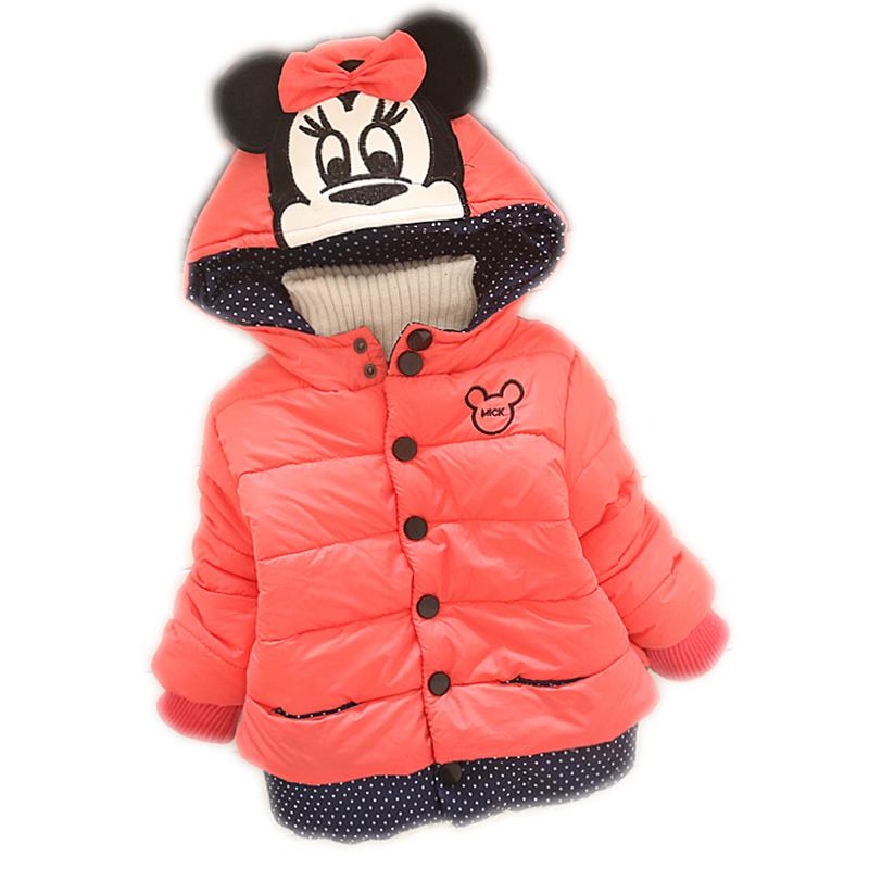 Гаджет  girls winter coat 2015 children winter cartoon Hooded Jacket Kids dot outerwear Girls warm cotton clothing Down & Parkas QY-612 None Детские товары