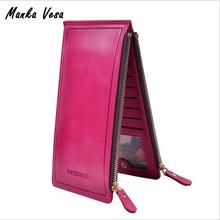 Manka Vesa 2016 Fashion Luxury Women Wallets Ultra-large Capacity Double Zippers Lady Purses Clutch Card Holders