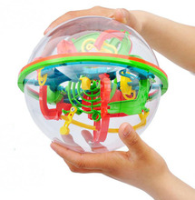 100 schritte Kleine Große Größe 3D Labyrinth Magie Roll Globus Marmor Puzzle Cubes Gehirn Teaser Spiel Perplexus Kugel Labyrinth(China (Mainland))