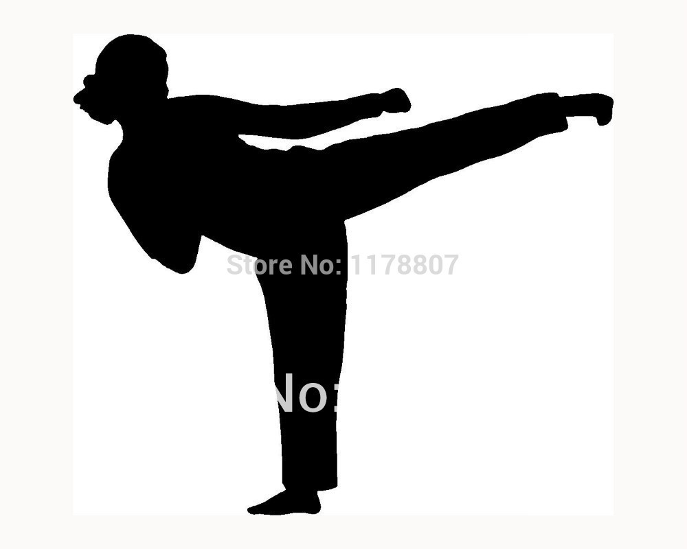 Female karate silhouette