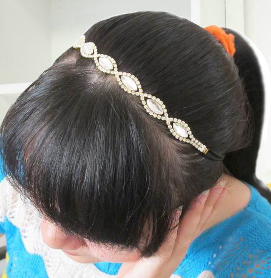 CCF370 Bohemian Pearl Headbands, Chain headpiece, Boho hairbands, Music Bridal hair bands(China (Mainland))