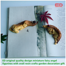 ED original design2pcs/set miniature fairy angel figurines/snail simulation garden decoration gift Christmas tree decorations(China (Mainland))