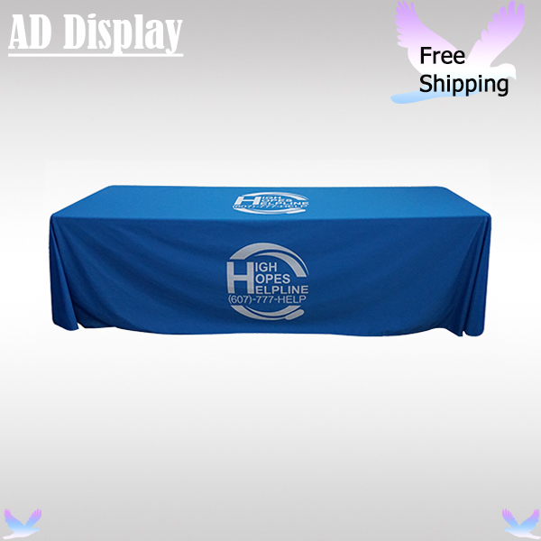 Wholesale 4PCS Trade Show Advertising 8ft Loose Fit Table Cover/Table Throw/Table Cloth Full Color Printing With Your Own Design(China (Mainland))