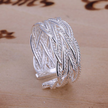 2014 Hot sell Chrismas gift Wholesale silver plated ring fashion jewelry,Small reticulocyte ring SMTR023(China (Mainland))