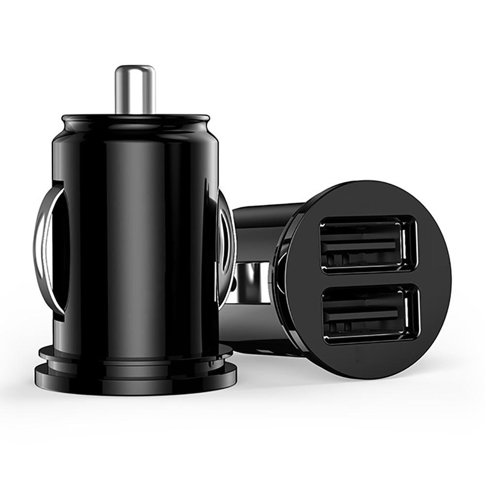 Universal Bullet Design Dual USB 2-Port Mini Car Cigarette Lighter Socket Charger 5V 2.1A Car Charger Power Adapter CG