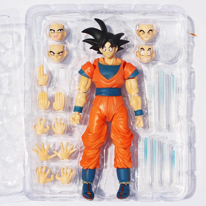 2pcs/set Dragon Ball Z Son Goku Action Figures PVC Figure Face Changeable Chidren Gifts Dragonball - HangZhou HTY store