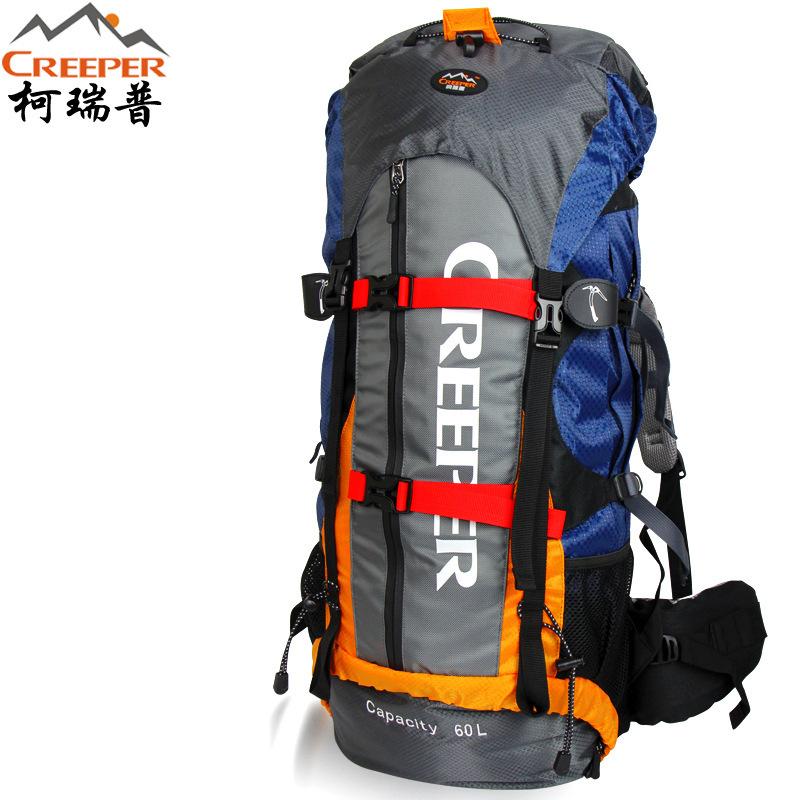 New Outdoor Climbing Men Backpack Sport Nylon 60L Travel Professional Mountaineering Light Bag Zipper Waterproof Hiking
