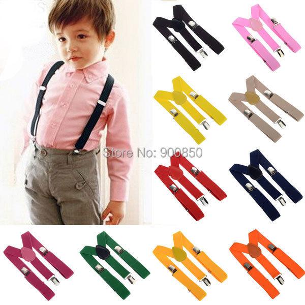 Подтяжки для мальчиков Adjustable Clip-on Y-back Suspenders For Kids/Baby 10Pcs/lot Y  CD12001(10)/ja