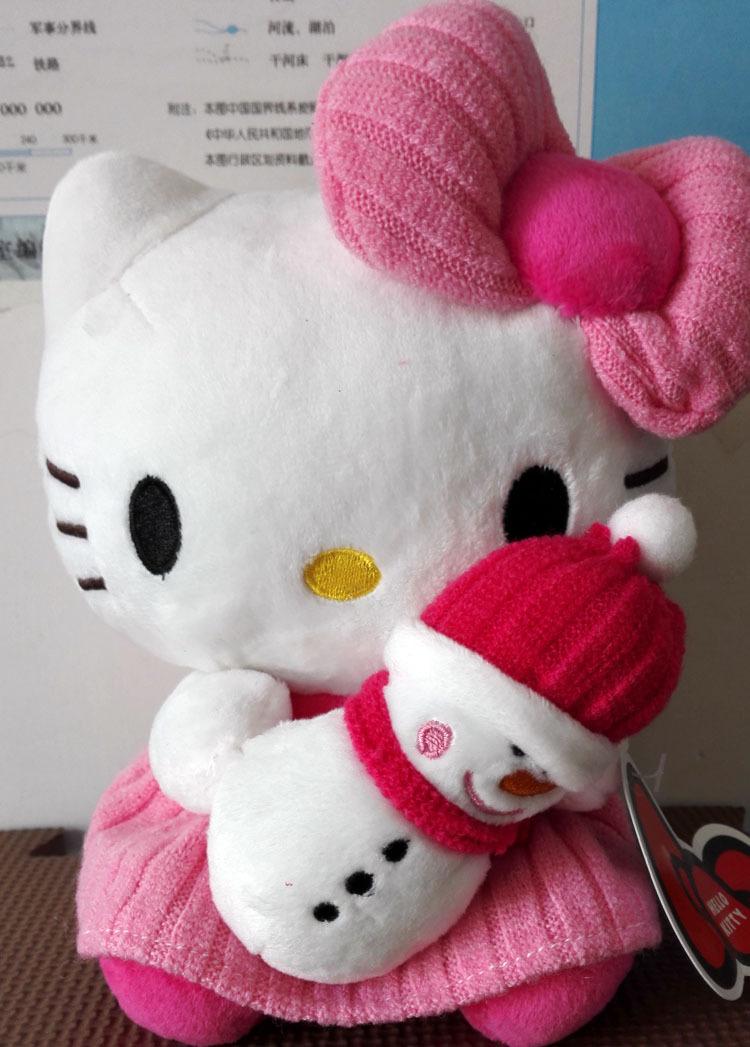 Hello Kitty Stuff Toys : New arrival cm hello kitty holding snowman sanrio