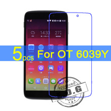 5pcs Ultra Clear LCD Screen Protector Film Cover For Alcatel One Touch Idol 3 6039Y 4.7″ Protective Film  +  cloth free shipping