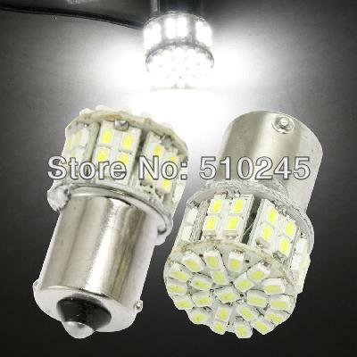 10x car led s25 ba15s 1156 p21W 50 led smd 50smd 3020 Turn light bulb lamp WHITE Free shipping