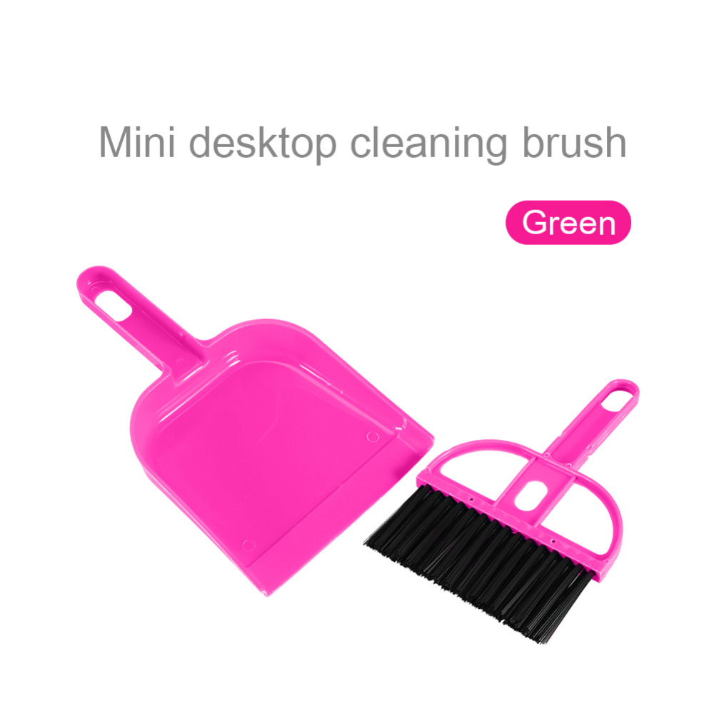 Colorful Mini Plastic Hand Kitchen Dustpan And Brush Set Soft Cleaning Sweeper Dust Pan(Hong Kong)