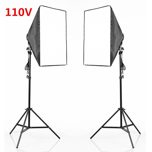 110V Photo Studio 4 Socket Head Softbox Light Stand Kit Continuous Lighting Kits PSK6A-US free shipping by DHL