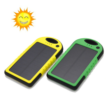 5000Mah solar power bank solar panel waterproof powerbank bateria externa portable charger for samsung xiaomi redmi TZE