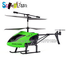 Wholesale 2014 Latest Double horse 9130# Double-propellers 2.4G 3.0 Channel With Gyro RC Helicopter-Green. Free Shipping.