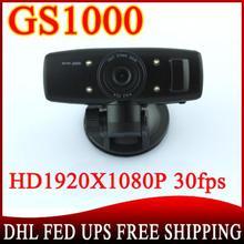 50pcs Car DVR GS1000 not GPS logger G-Sensor camera recorder Full HD 1080P 30fps Ambarella CPU H.264 IR Night Vision(China (Mainland))