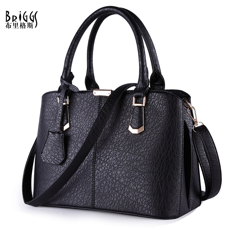 BRIGGS Women Pu Leather Bags Lady Handbag Shoulder Bag Leather Messenger Satchels Bag Casual Tote For Women (5 Colors)(China (Mainland))