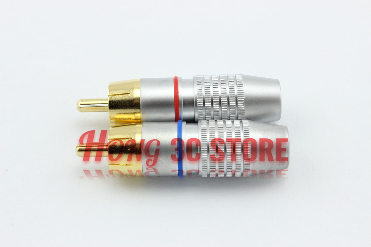 Free Shipping 10 pcs/lot New High Quality Brass RCA Male Plug 6.3mm Audio Video Locking Cable Connector<br><br>Aliexpress