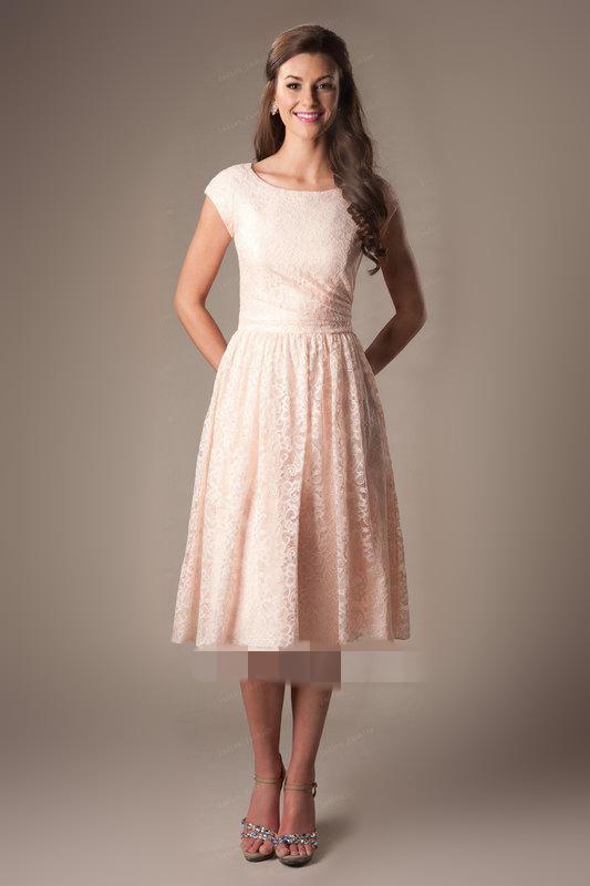 Lace Knee Length Dress Photo Album - Reikian