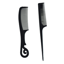 New 2 Pcs Black Plastic Combs Beauty Tool for Ladies(China (Mainland))