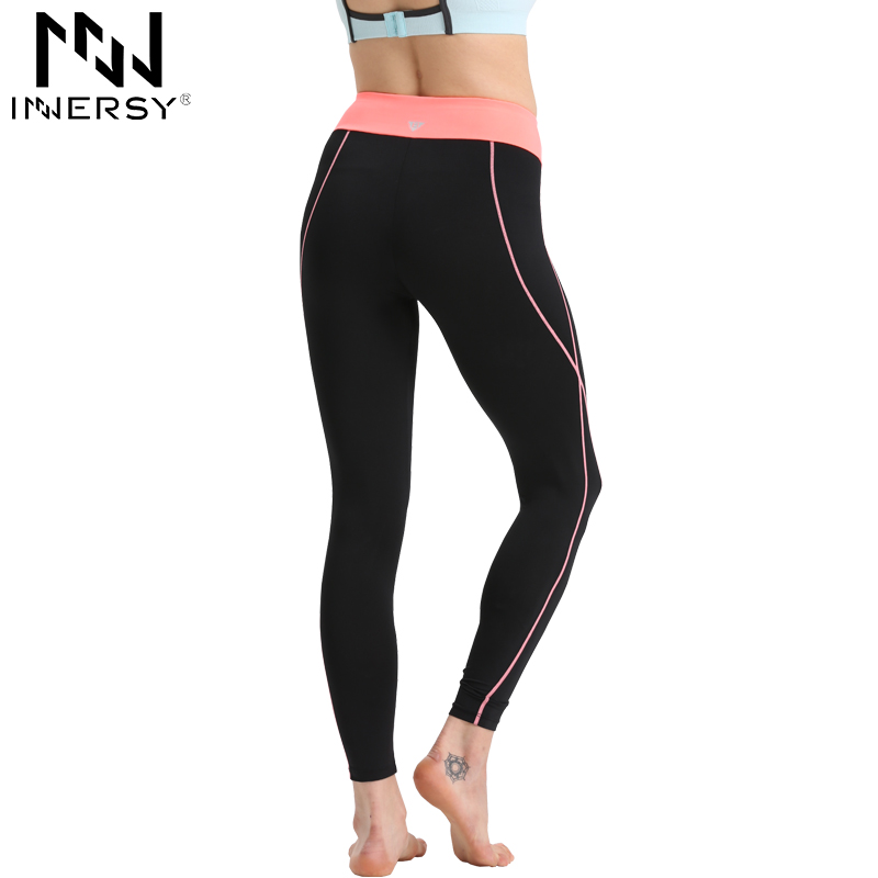 Innersy Fitness Women Running Tights Sports Elastic Pants for Fitness Gym Women Sport Trousers Running Pants Jzh83(China (Mainland))