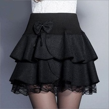 Women Wollen Skirts 2016 Pleated Skirt Mini Trend Skirt Two Colors A80265