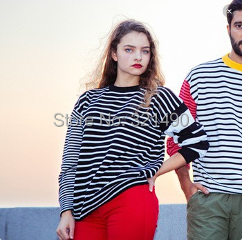 American Apparel 2015 Женщины Striped pullover свитер jersey mujer couple christmas ...