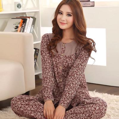 Cardigan sleepwear female spring autumn 100% cotton long-sleeve plus size women's lounge set - Online Store 226431 store