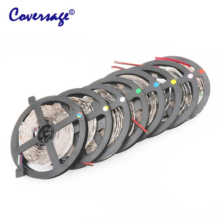 Coversage Led Strip 3528 5M 300Leds Waterproof Light DC12V 60Leds/M Fiexble Light Led Ribbon Tape Home Decoration Lamp(China (Mainland))