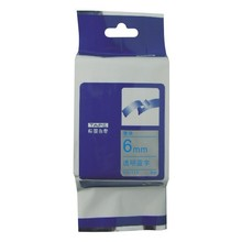 10pcs/lot 6mm*8m tze113 blue on clear compatible brother  label tapes compatible  for brother P-touch Tze-113 printer  Ribbons