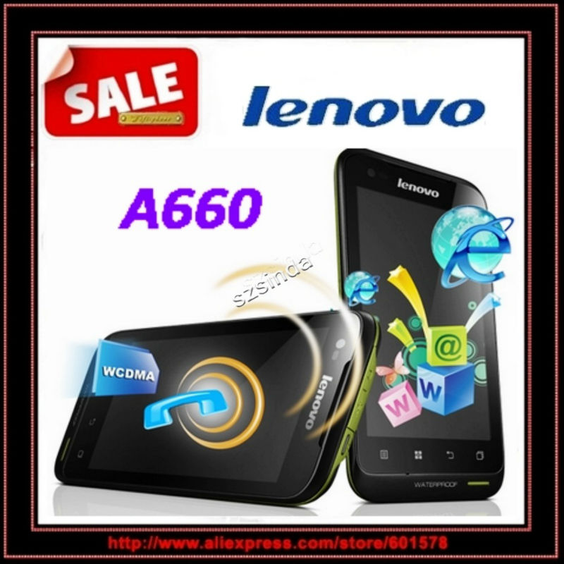"beiyong---FREE SHIPPING 4.0"" Lenovo A660 MTK6577 Dual Core Android 4.0 waterproof mobile phone 3G Dual sim cards"
