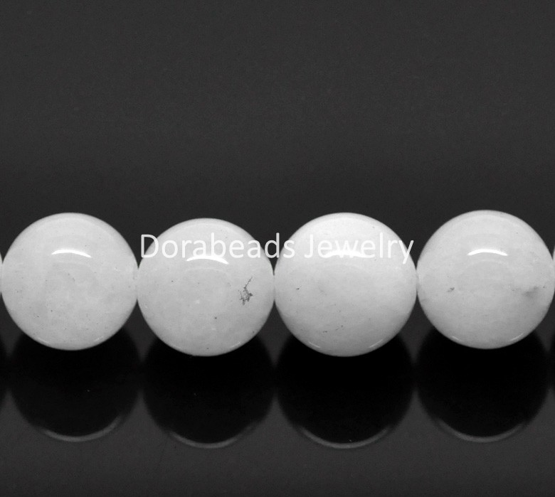 "hot- 1 Strand(about 37PCs) Synthetic White Marble Gemstone Round Loose Beads 10mm(3/8"")Dia. (B20297)(China (Mainland))"