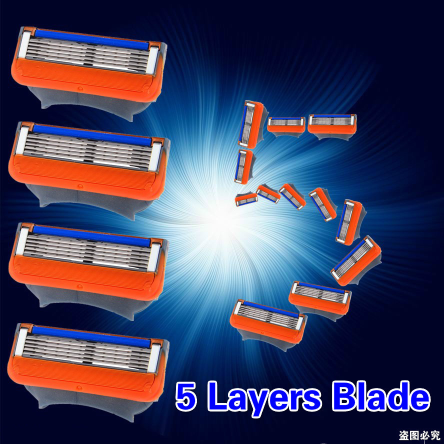 Made in USA 8pcs/Pack Mache 5 Layers Blades Face Care FP Fusione Shave Sharpener To Shavers Razor Blades for Men shaving Machine(China (Mainland))