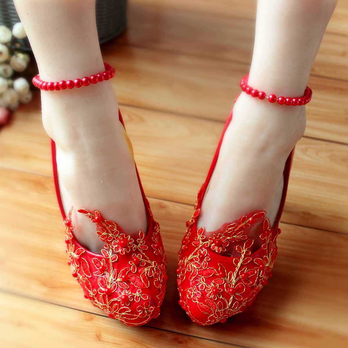 3 Inch Red High Heels