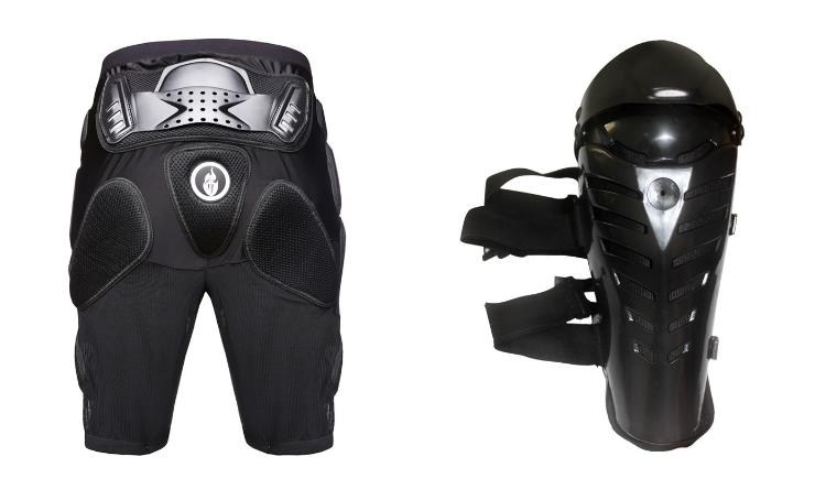2015 New Motocicleta Racing Motorcycle Body Gears Short Pants+protective Motocycle Knee Pad