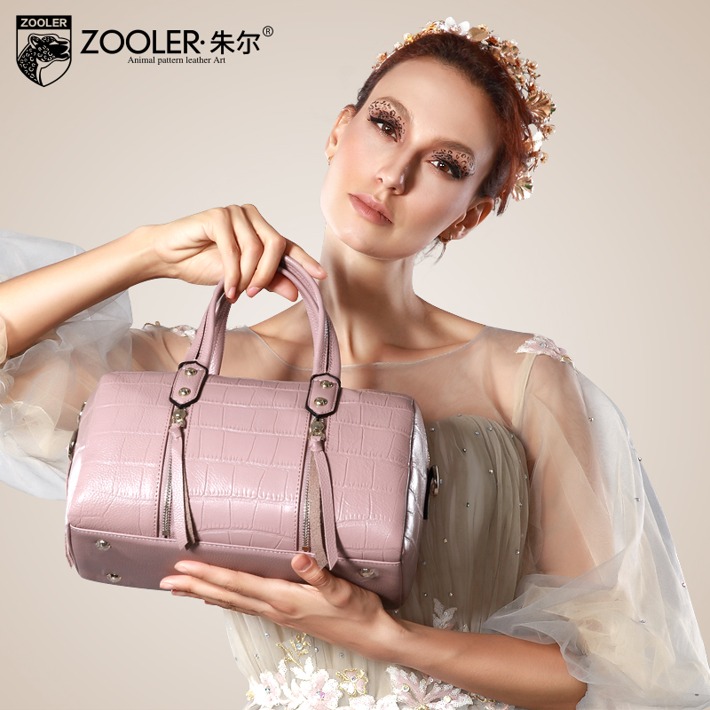 ZOOLER genuine leather bag luxury genuine leather handbags top handle Classic women shoulder bags designed bolsos#1201(China (Mainland))