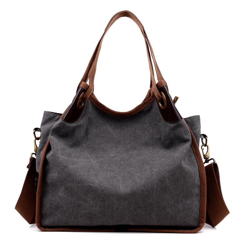 Fabra Vintage Canvas Handbags Women Messenger Bags Big Capacity Shopping Tote Solid Cross Body Shoulder Travel Bag 40*18*38 Cm(China (Mainland))