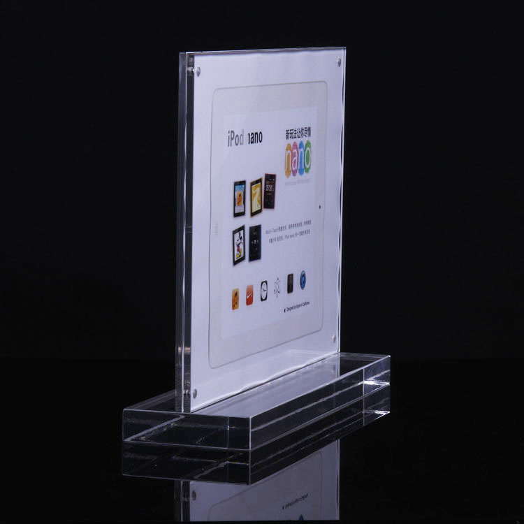 DHL Free shipping Elegant A4 size Acrylic advertising display card<br>