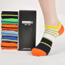 Free shipping british style 1 set gift box shoes r men socks  sweat-absorbent deodorant men's boat socks