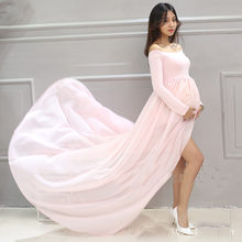 Long Sleeve Maternity Dresses For Photo Shoot Pregnant Dress Pregnancy Dress Photography Vestidos Robe Grossesse Shooting Photo(China)