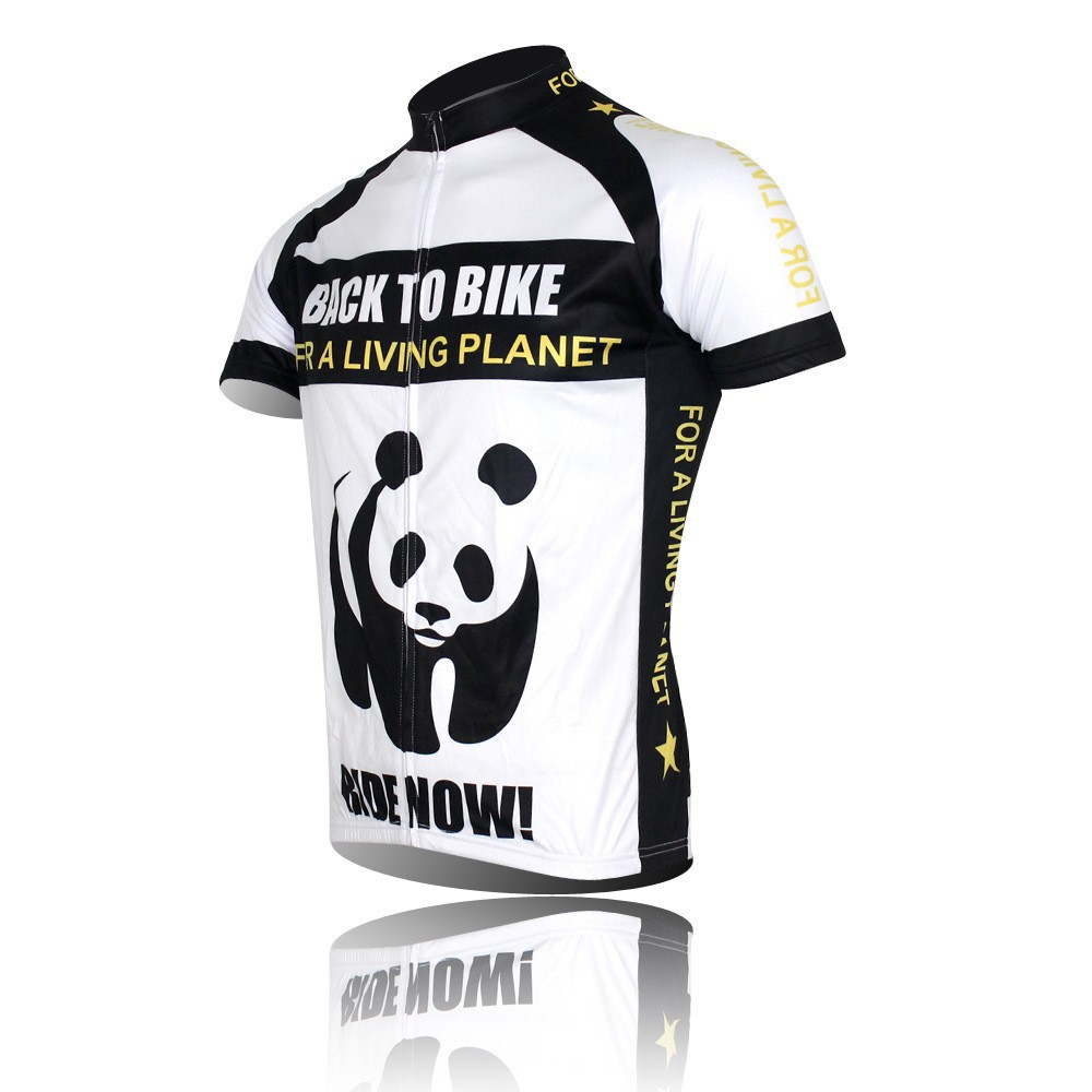Гаджет  New Panda Cycling Bike Short Sleeve Top Shirt Clothing Bicycle Sportwear Jersey S-4XL CC0107 None Спорт и развлечения