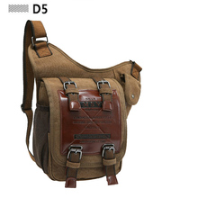 Synthetic Leather Men Canvas Bag Outdoor Travel Tactical Leg Bag Pack Coffee Black Army Green Shoulder Bag Man Messenger Bags