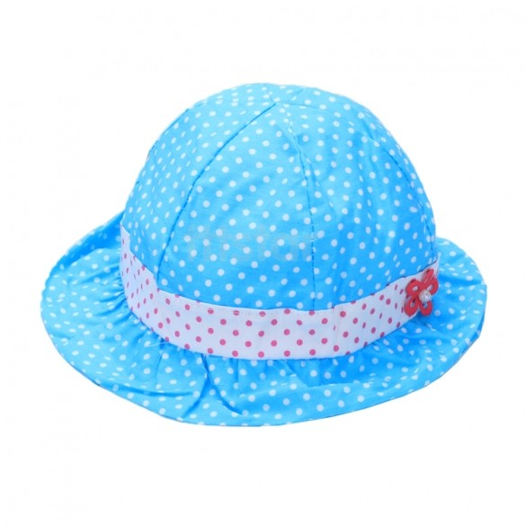 2015 New Cotton Summer Baby Caps Infant Sun Hat 44-46cm 3~24 Months 24(China (Mainland))