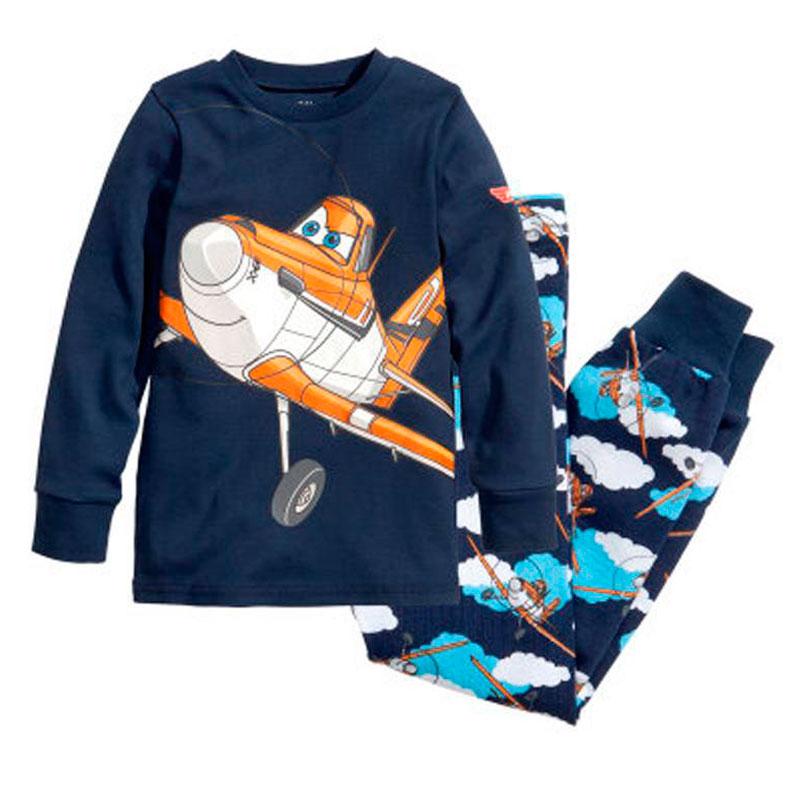 New Cartoon Kids Planes Pajamas Set Boys Long Sleeve Spring Autumn Sleepwear Clothing Baby Lovely Pyjamas Suit Children Costumes(China (Mainland))