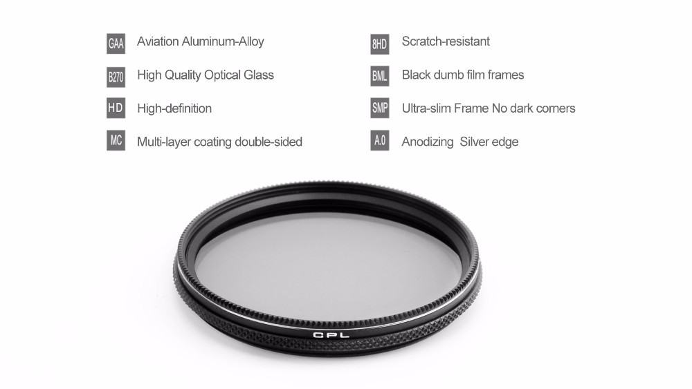 PGY cpl Circular Polarizer Filter for DJI X5 CPL OSMO inspire 1 gimbal camera Lenses lens accessories Quadcopter RC drone parts