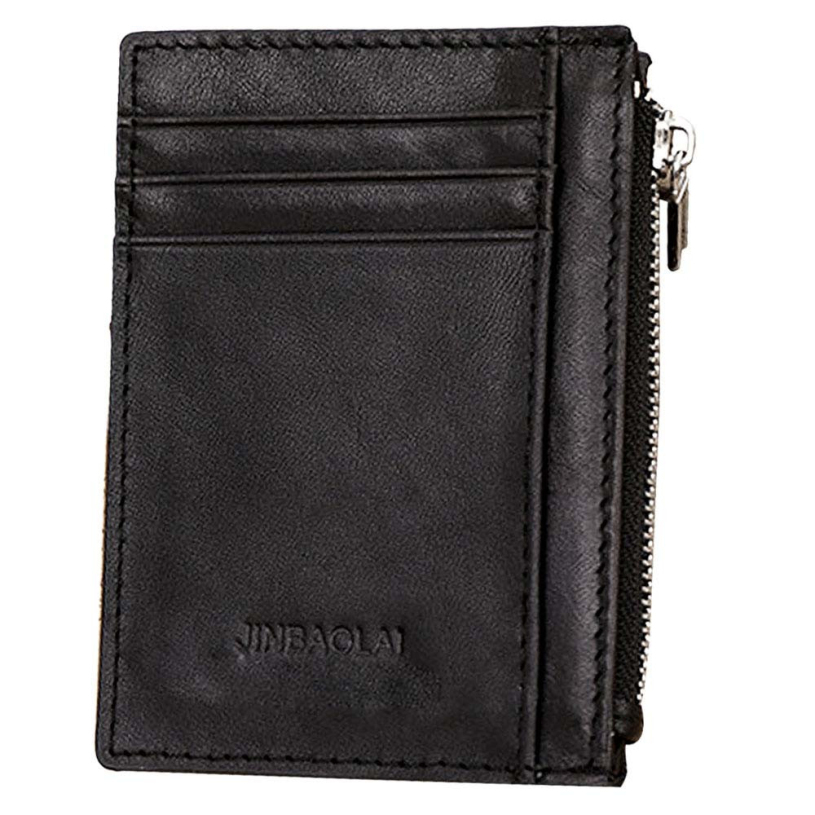 New brand 2015 fashion Luxury Retro Zipper Mens Leather Wallet Credit ID Card holder Purse<br><br>Aliexpress