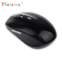 Hot-sale MOSUNX Wireless Game Mouse Gifts Wholesale 2.4GHz Wireless Mouse USB Optical Scroll Mouse For Tablet Laptop Computer(China (Mainland))