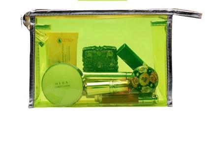 Mini Jelly Bag Pvc Saco Livre 2015 New Clear Cosmetic Bag Organizer Insert Beach Bag Zipper Portable Multifunctional Clutch Bag(China (Mainland))